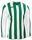 Joma 100002.450 - Camiseta de equipación de Manga Larga para Mujer, Color Verde/Blanco, Talla S