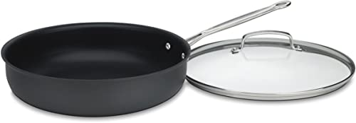 """wholesale Cuisinart outlet online sale Deep outlet online sale Fry Pan with Cover, 12"""", Anodized Black online"""