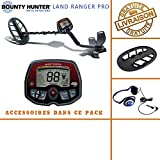 Bounty Hunter–Detector de Metales Land Ranger Pro con Protector de Disco y auriculares