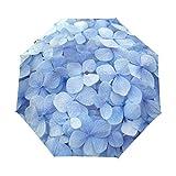 ミヤビヤ 自動開閉式 ジャンプ傘 紫陽花柄 アジサイ柄 花柄 ブルー 母の日 内祝い スペシャル 特別 結婚記念日 結婚内祝い お礼 ギフト