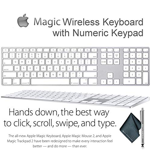 Magic Wireless Keyboard with Numeric Keypad for Apple...