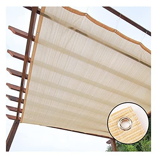 YJSMB Toldo Sombra, Malla Sombra Borde con Cinta con Ojales Parabrisas Protección UV para El Patio Trasero, Patio, Balcón, Valla (Size : 6x7m/19.6x23ft)