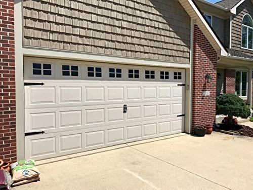 32 Sheets 2 Car Garage Kits Household Easy Installation Magnetic Panels Fake Windows Hardware Decorative (Size 6.14' x 4')