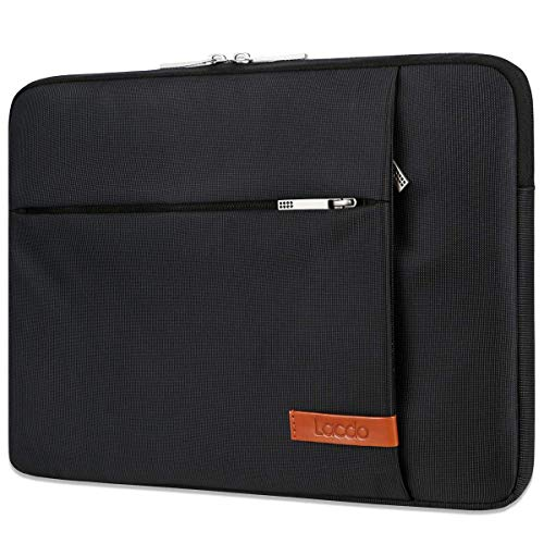 Lacdo 14 Inch Laptop Sleeve Computer Case Portable Bag for Dell Inspiron 14 5481 / HP Stream 14' / Acer Spin 3 / ASUS L402YA / HP Acer Chromebook 14, S330 / Flex 14 Notebook, Water-Resistant, Black