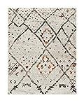 NAZAR 83262 Marroko 832 Tapis scandinave à motif Matériel Synthétique Crème 170 x 120 cm