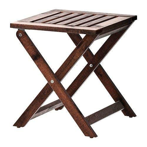 IKEA APPLARO Hocker für den Außenbereich, klappbar, braun gebeizt