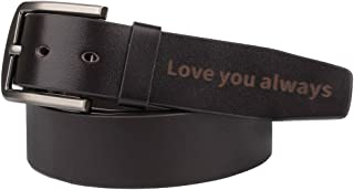 Best mens engraved belt Reviews