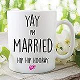 Keyboard cover Tazza da caffè Yay Ich bin verheiratet, regalo di nozze, per il miglior amico, per il lavoro, per l'ufficio, per la sposa