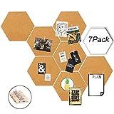 Goldbeing Kork Pinnwand Korkwand 7 Stück selbstklebend, Pinboard Korkwand Tafel, Korktafel...