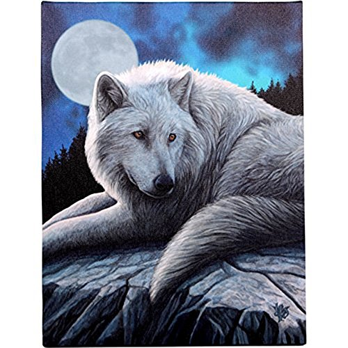 Guardian Of the North - Fantastic Wolf Design by Artist Lisa Parker - Canvas Picture on Frame Wall Plaque / Wall Art