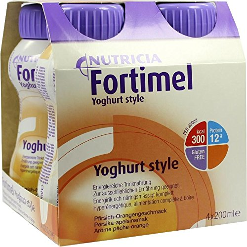 FORTIMEL Yoghurt Style Pfirsich Orangegeschmack 4X200 ml