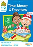 School Zone - Time, Money & Fractions Workbook - 32 Pages, Ages 6 to 8, 1st and 2nd Grade, Adding Money, Counting Coins, Telling Time, and More (School Zone I Know It!® Workbook Series)