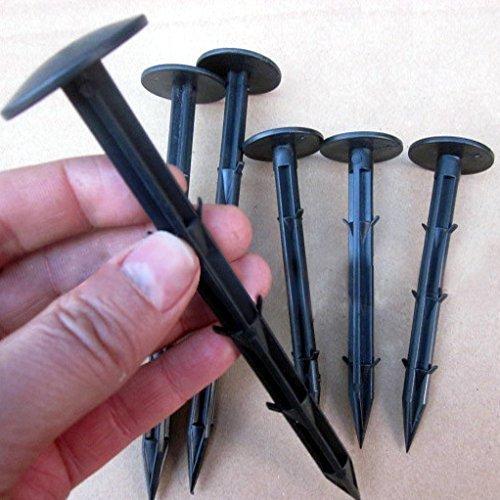 30 unidades 16 cm Pinzas de jardín de plástico Jardín fijación piquetas para mallas antihierba pinzas
