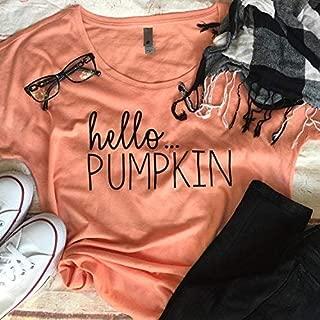 Womens Halloween Shirt - Halloween Womens Tees - Halloween Shirt - Womens Pumpkin Shirt - Womens Shirts - Hello Pumpkin - Pumpkin Shirt