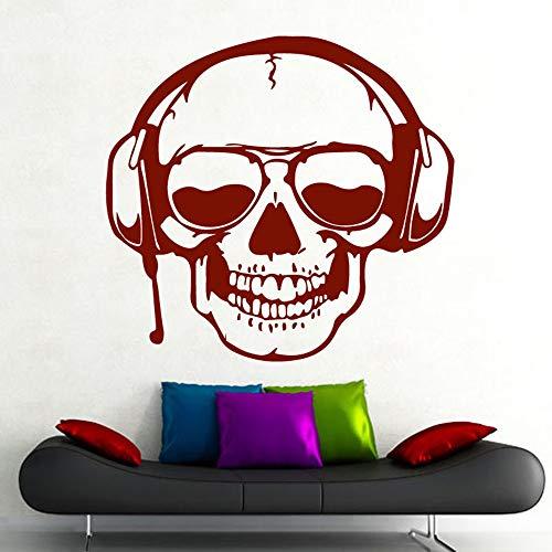 große 3d - wandsticker - schädel musik haushalt abnehmbaren halloween - dekoration maison home decor ornamente adesivo murale