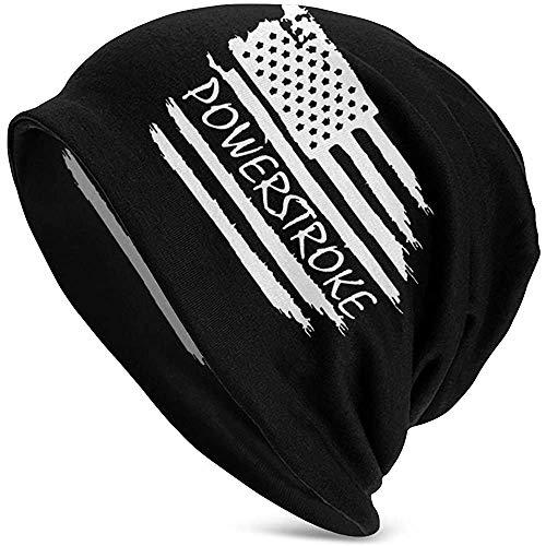 LinUpdate-Store Herren Mütze Damenmütze Amerikanische Flagge Neuartige Winter Warm Strickmütze Schwarz-FC7-9I3