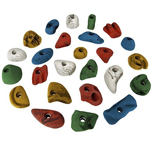 ALPIDEX 25 Klettergriffe - Größe M und S im Set, Farbe:bunt