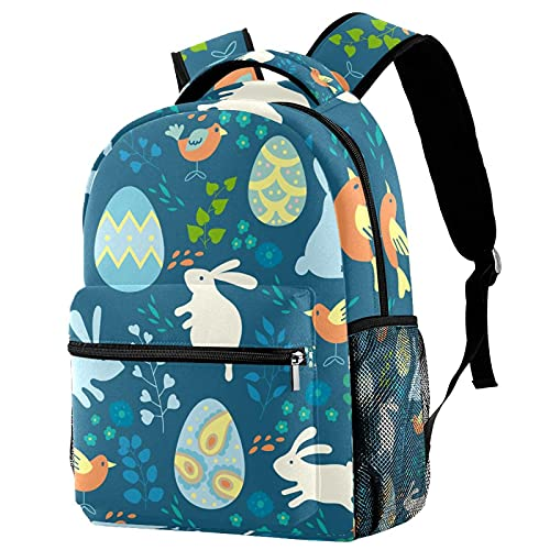 Travel Laptop Backpack, Work Bag Lightweight Laptop Bag Colored Rabbits Eggs And Birds Business Backpack School Rucksack Gifts for Men and Women