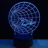 手話ハンドジェスチャロック3Dナイトランプアクリルレーザーステレオイリュージョンカラーリモートキッズフレンズギフト玩具