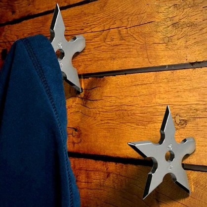 Ninja Darts Coat Hooks (Pack of 2) Clothes Hooks