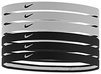 Nike Swoosh Sport Headbands 6pk  One Size Fits Most Black/White