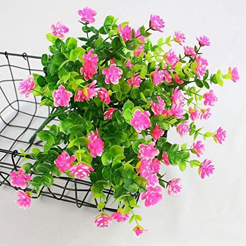 1 Bündel Künstlicher Plastik Blumenstrauß für Haupt Dekorations Pflanzenwand Garten Deko - 4