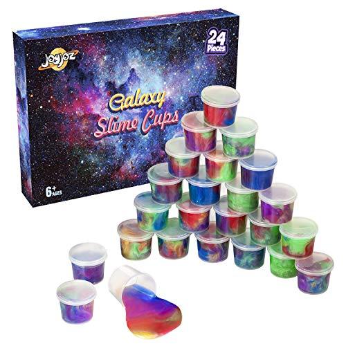 Joyjoz Galaxy Slime Wasserschleim 24 PCS Partybevorzugung Schleim Kit Nicht Klebrig Weich Stressabbau Spielzeug für Kinder, Erwachsene