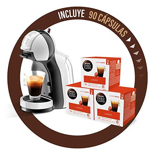De'Longhi Dolce Gusto Mini Me EDG305.WB - Cafetera de cápsulas + Nescafé Dolce Gusto Magnum Café Lungo - Cápsulas de Café - 3 x 30 - 90 Cápsulas