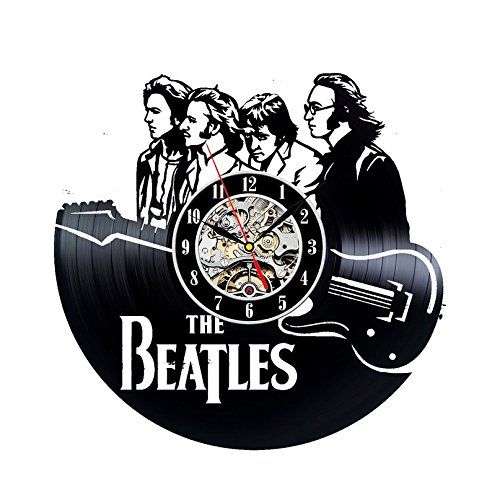 Disco de vinilo reloj beatles banda tema Decoración de la pared