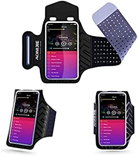 DFV mobile - Professional Cover Neoprene Armband Sport Walking Running Fitness Cycling Gym for AGM A8 - Black