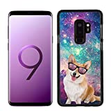 Sai Case Designer Hard Case for Galaxy S9 Plus - Hipster Corgi Dog Galaxy Space - Plastic Back Snap on Cover