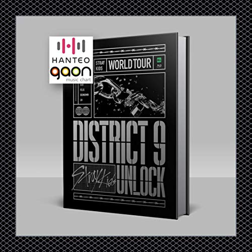 Stray Kids - World Tour District 9 : Unlock in SEOUL [Blu-Ray ver.] [Pre Order] 2CD+Photobook+Others with Tracking, Extra Decorative Stickers, Photocards