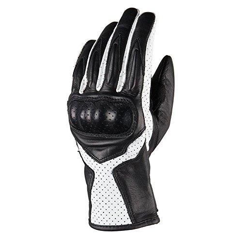 DXR Shaliane - Guantes largos para motocicleta, para verano, para mujer, deportivos, piel negro/blanco M
