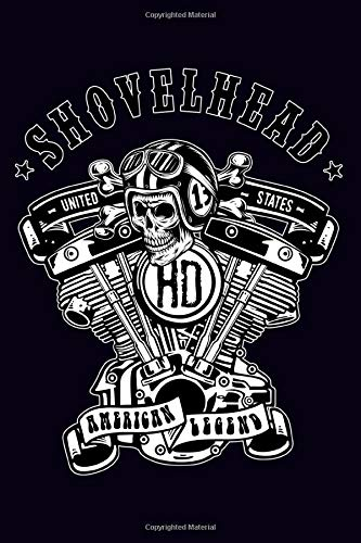 HD Shovelhead United States American Legend: Dot Grid Journal, 100 pages