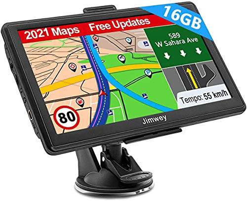 Navigation für Auto LKW Navi 7 Zoll Navigationsgerät Testsieger 2021 Navigationssystem PKW Lebenslang Kostenloses Kartenupdate mit POI Blitzerwarnung Sprachführung Fahrspur 52 Europa UK Karte