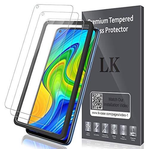 LK Protector de Pantalla para Xiaomi Redmi Note 9 Cristal Te