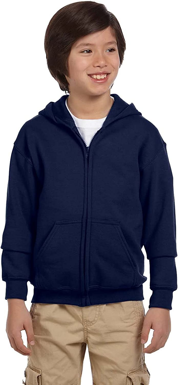 Gildan Youth Heavy Blend Full Zip Hooded Sweatshirt G186B