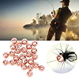 DAUERHAFT Hundirse rápido y profundamente sin desvanecimiento Perlas de tungsteno ranuradas Ambiental y Seguro, para Todos los Amantes de la Pesca(3.3MM)