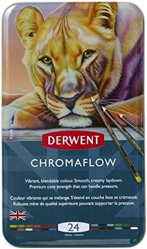 Derwent Chromaflow Color Pencils Multicolor Professional Quality 24 Pack 2305857 product image