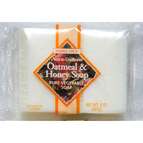 Trader Joes Next to Godliness Oatmeal & Honey Soap 4oz - Pack of 2 (One Pack (2 bars))