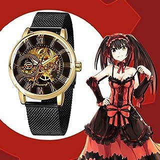 億騰 腕時計 機械式 メンズ ローマ数字 時崎 狂三 トキサキ 刻々帝 コスプレ ウォッチ スケルトン 腕時計 (TYPE2)