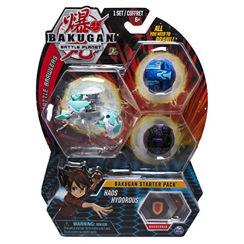 Bakugan Starter Pack 3-Pack, Haos Hydorous, Collectible Transforming Creatures, for Ages 6 and Up