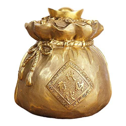 LAOJUNLU Geldbeutel aus reinem Kupfer, Geldbeutel, Kornukopie, Handwerk, Dekoration, Heimbüro
