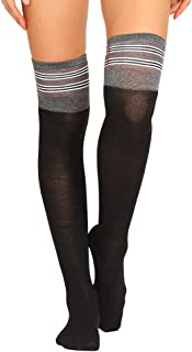Women Middle Stock Women Fashion Cotton Leopard Stripe Print Long Warm Sock