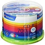 Verbatim バーベイタム 1回記録用 CD-R 700MB 50枚 ホワイトプリンタブル 48倍速 SR80SP50V1
