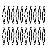 Yangfei 20pcs Accessoires de Coiffure, Outils de Coiffure Cheveux plastique chignon cheveux chignon magique Set d'outils de Coiffure Débutants pour Filles Femmes (noir)