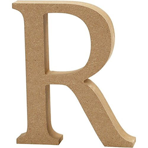 MDF Wood Wooden Letters Free Standing 13cm high 2cm deep (R)
