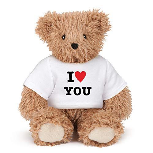 Vermont Teddy Bear Teddy Bears - I Love You Teddy Bear, Stuffed Animals -13 Inch, Brown