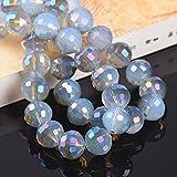 36 piezas redondas 96 facetas cortadas bola de discoteca 8 mm 10 mm 12 mm vidrio de cristal cuentas...
