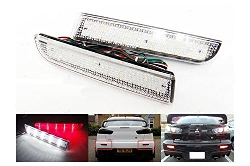 CARALL LY0163 - Kit de 2 faros traseros de LED transparente, compatible con Mitsubishi Lancer Outlander Sport RVR ASX